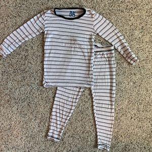 Girls Kickee Pants Parisian Stripe Pajamas